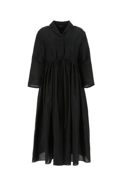 Black ramie blend Carlos dress