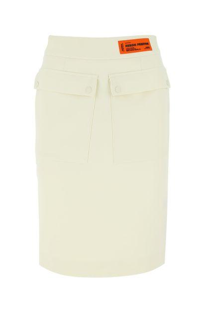 Ivory crepe skirt