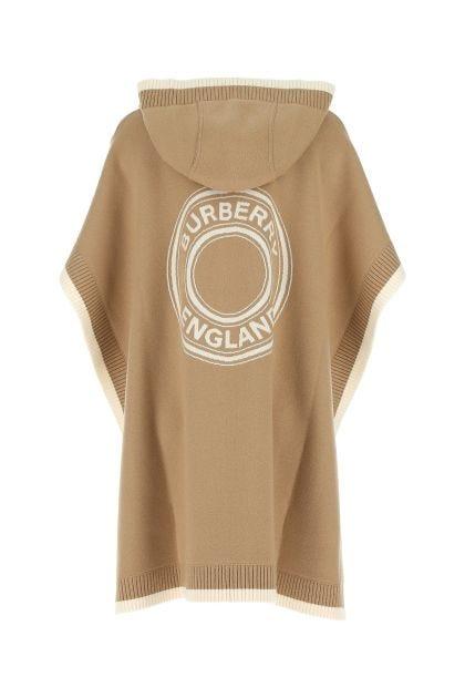 Beige stretch wool cape