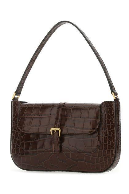 Chocolate leather Miranda shoulder bag