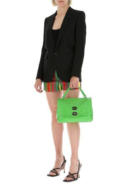 Green leather Postina S handbag