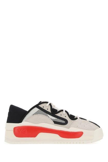 Multicolor leather and fabric Hokori sneakers