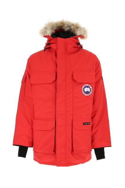 Red polyester blend Expedition down jacket