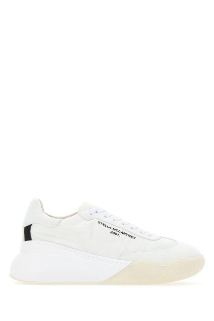 Ivory fabric Loop sneakers