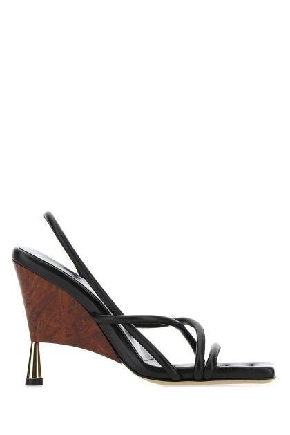 Black nappa leather Rosie 2 sandals