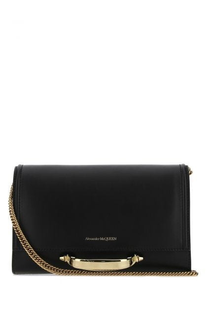 Black leather The Story clutch