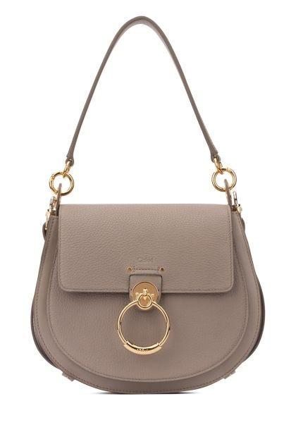 Dove grey leather large Tess handbag