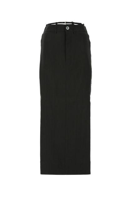 Black hemp blend La Jute Terraio skirt