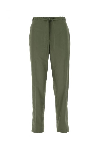 Dark green cotton pant