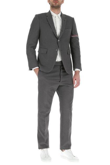 Graphite cotton blend blazer