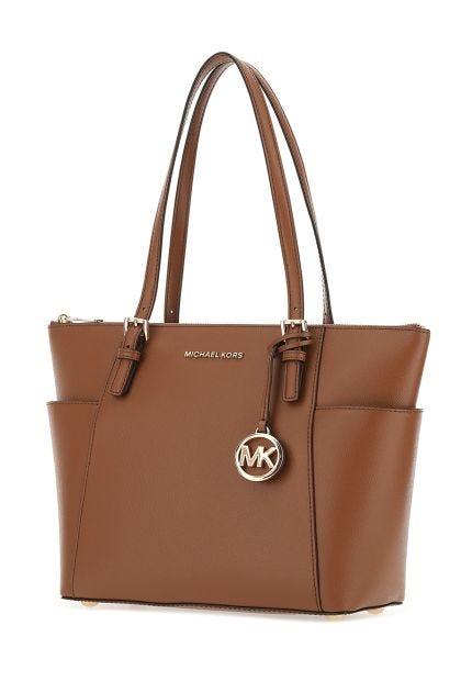 Brown leather Jet Set shoulder bag