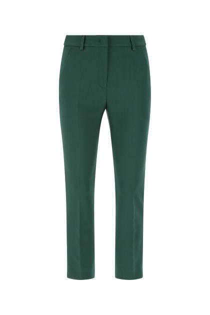 Green polyester blend Rana cigarette pants