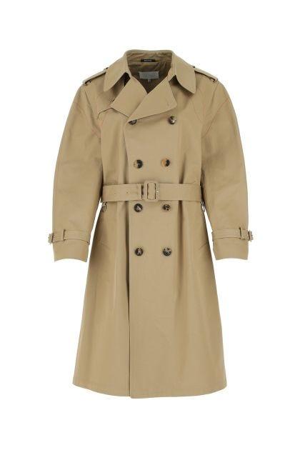 Cappuccino cotton trech coat