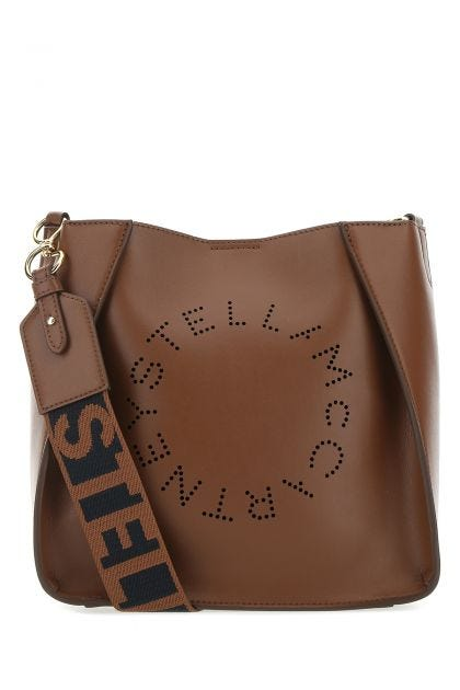 Brown alter nappa mini Stella Logo shoulder bag