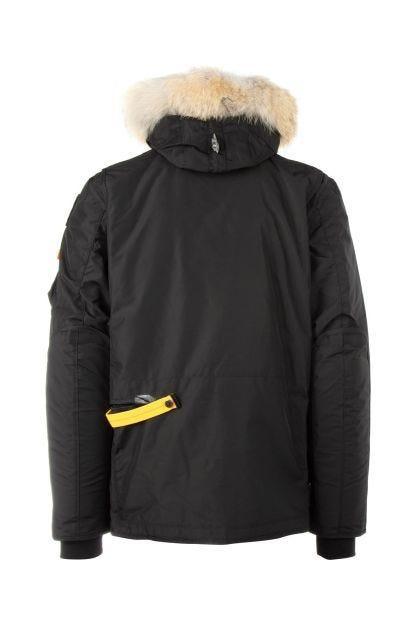 Black nylon down jacket