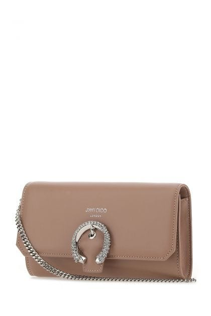 Antiqued pink leather Iuy clutch