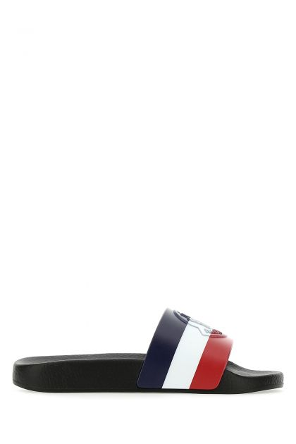 Multicolor rubber Basile slippers
