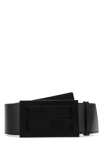 Black leather Baguette belt