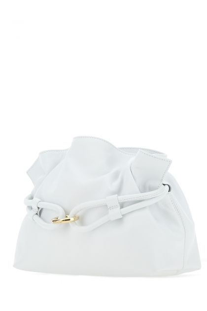 White nappa leather Roma XL bucket bag