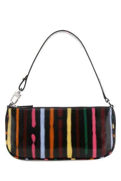 Printed leather Rachel shoulder bag