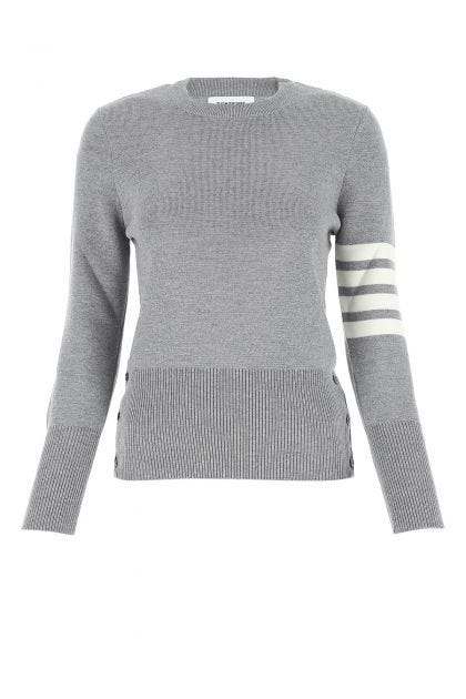 Melange grey wool sweater