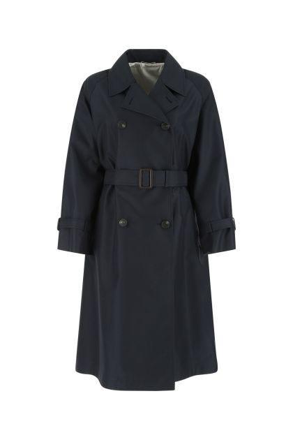 Midnight blue cotton blend Dama trench coat