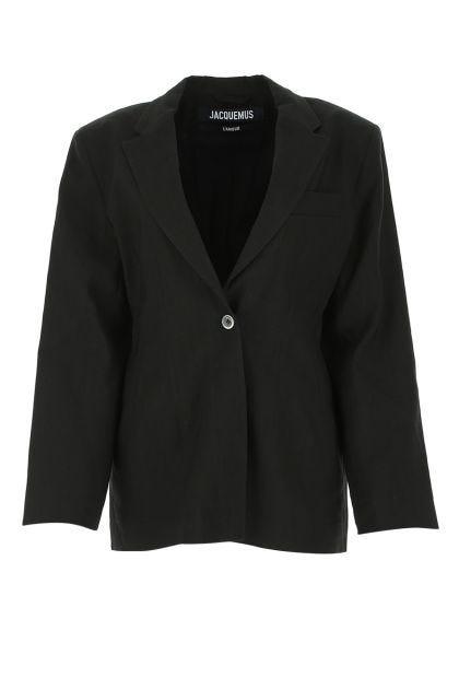 Black hemp blend La Veste Novio blazer