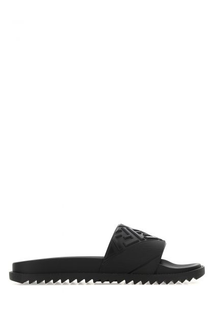 Black rubber Fussbet slippers