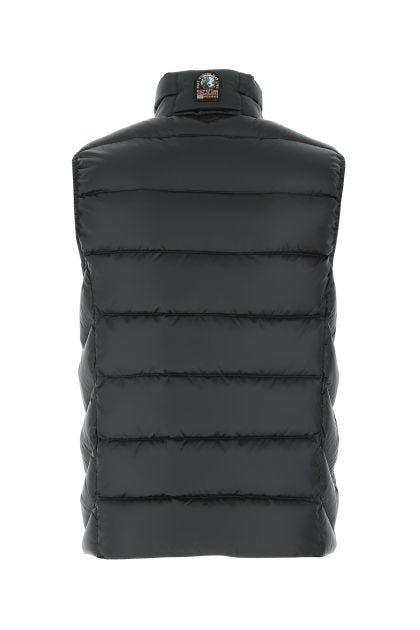 Slate polyester blend Jeordie sleeveless down jacket