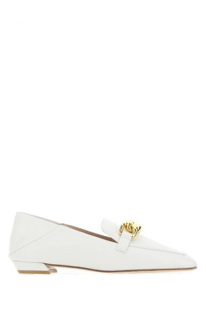 White leather Mickee loafers