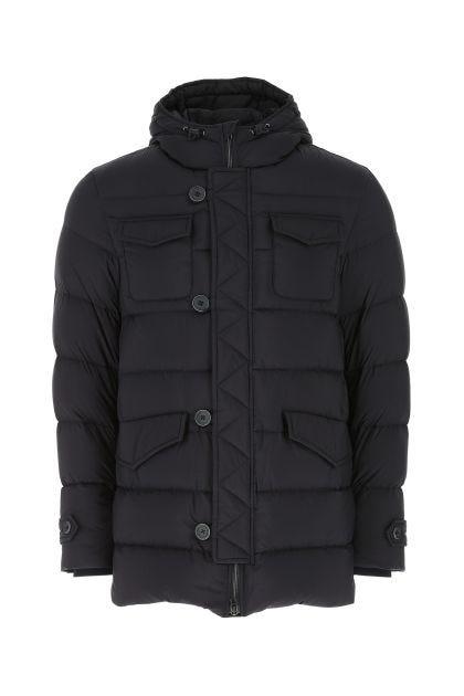 Midnight blue nylon down jacket
