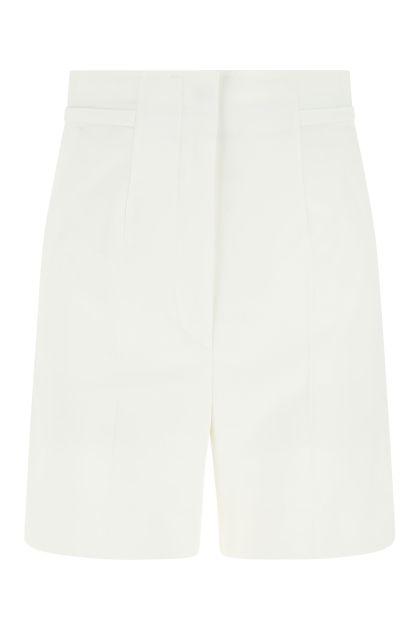 White cotton stretch Placido shorts