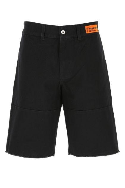 Black denim bermuda shorts