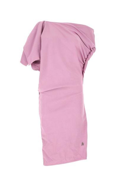 Lilac cotton T mini dress