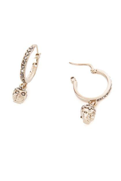 Embellished metal mini Skull earrings