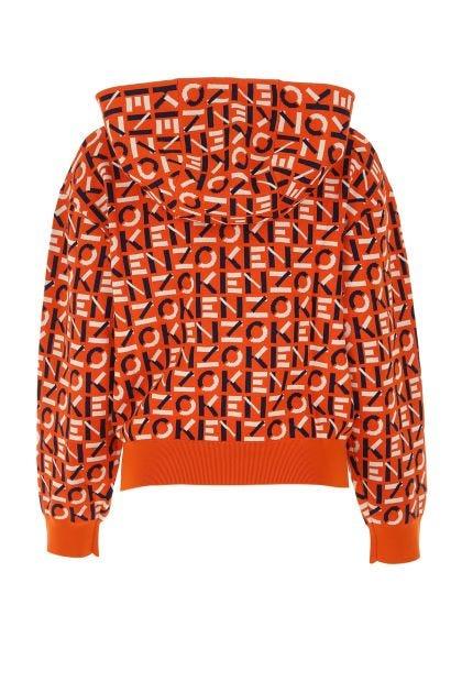 Embroidered nylon blend sweatshirt