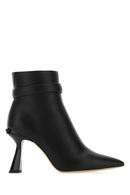 Black leather Carene boots