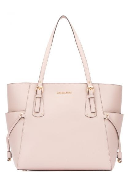 Pastel pink leather Voyager shoulder bag