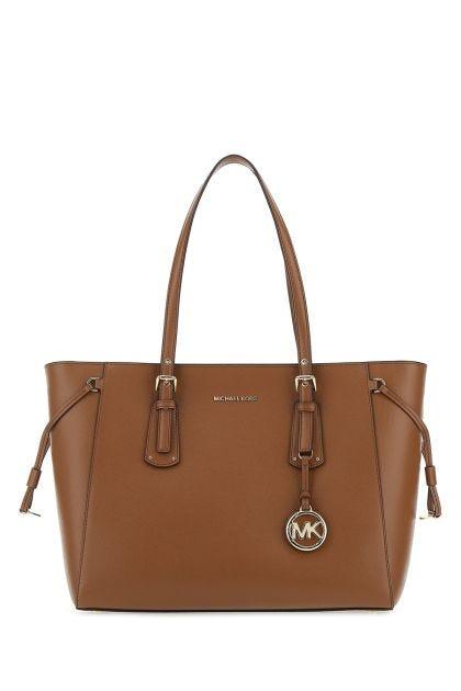 Brown leather medium Voyager shoulder bag
