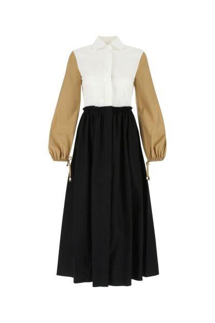 Multicolor cotton Scacco dress