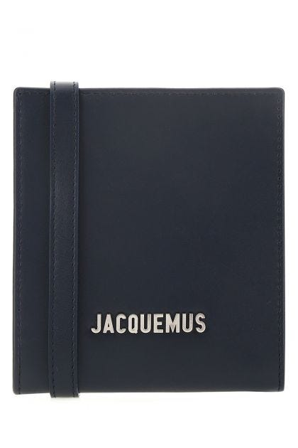 Navy blue leather Le Gadjo card holder