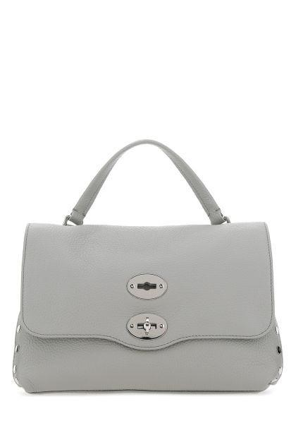 Light grey leather Postina S handbag