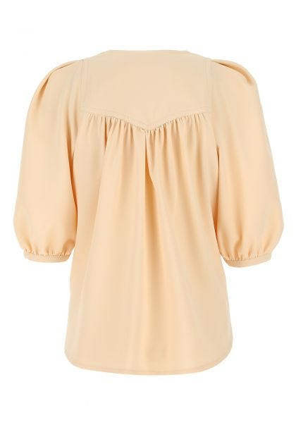 Cream polyester bluse