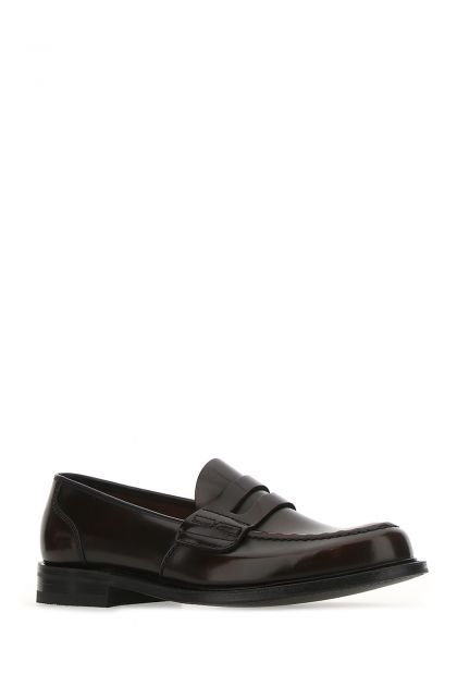Dark brown leather Farsley loafers